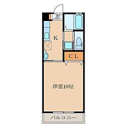 札元大丸マンション[207号室]の間取り