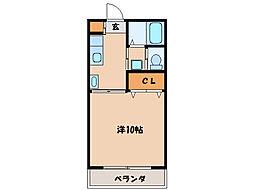 第二札元大丸マンション[206号室]の間取り