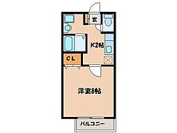 コーポマーメイド[1階]の間取り