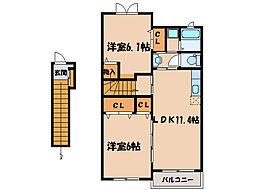 メゾン・エスポワール I II[B203号室]の間取り