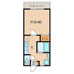 ライオネスII A、B棟[A102号室]の間取り
