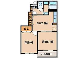 ハピネスフラワー1 2[2103号室]の間取り