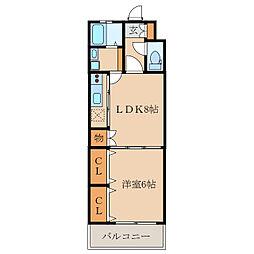 エビデンスレオ[4階]の間取り