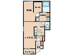 メゾン・ポラリスII[1階]の間取り