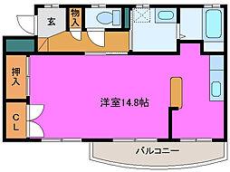 静岡県浜松市中区相生町の賃貸マンションの間取り