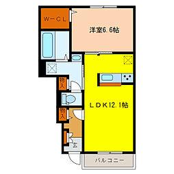 静岡県浜松市南区芳川町の賃貸アパートの間取り