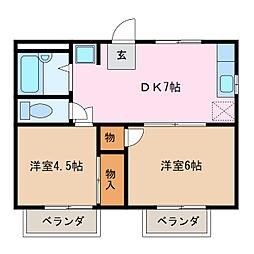 神ノ倉ハイツ[2階]の間取り