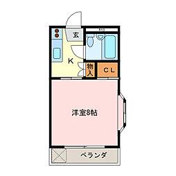 メゾン景[2階]の間取り