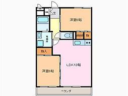 愛知県名古屋市緑区大清水4丁目の賃貸マンションの間取り