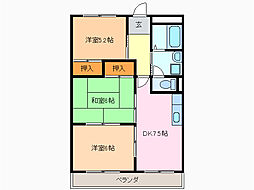 愛知県名古屋市緑区小坂2丁目の賃貸マンションの間取り
