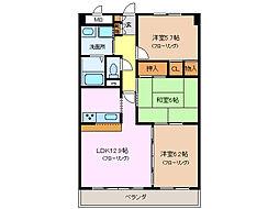 ロイヤルN・Y[3階]の間取り