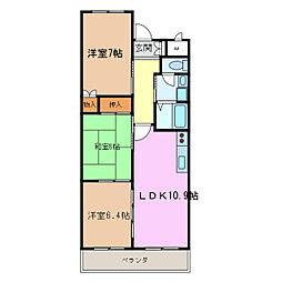愛知県名古屋市緑区滝ノ水5丁目の賃貸マンションの間取り