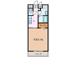 サンモール緑A棟[2階]の間取り