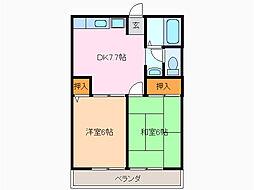 レトア滝ノ水I[2階]の間取り