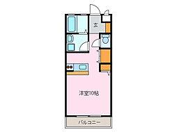 愛知県名古屋市緑区清水山1丁目の賃貸マンションの間取り