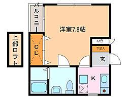 セルティ鳴海[1階]の間取り