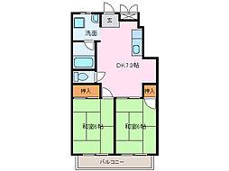 愛知県名古屋市緑区鳴海町字赤塚の賃貸アパートの間取り