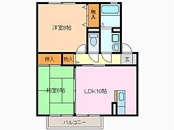 エクセル兵庫[1階]の間取り