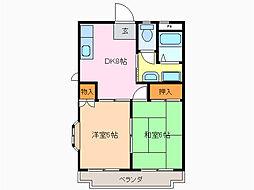 愛知県名古屋市緑区武路町の賃貸アパートの間取り