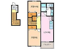 レジデンスSK[2階]の間取り