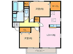 レジデンス神ノ倉C[2階]の間取り