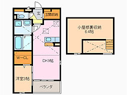愛知県名古屋市緑区浦里3丁目の賃貸アパートの間取り