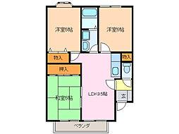 タウンサンロイヤル A棟[2階]の間取り