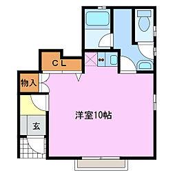 愛知県名古屋市緑区大高町字儀長の賃貸アパートの間取り
