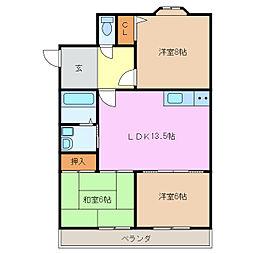 ファミール高島[2階]の間取り