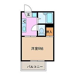 愛知県名古屋市緑区藤塚1丁目の賃貸アパートの間取り