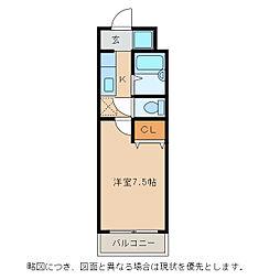 パストラール小脇[4階]の間取り