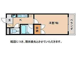コテージK2[2階]の間取り