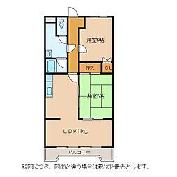 ロイヤルオークII[3階]の間取り