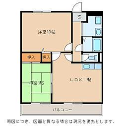 Chez-soi TATSUMI[1階]の間取り