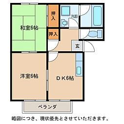 レジデンス宝積[2階]の間取り