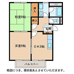 メゾンサープラス西堀 B棟[2階]の間取り