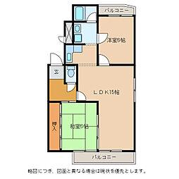 ハイツエクセルII番館[2階]の間取り