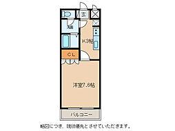 シャトーグリーンII[2階]の間取り