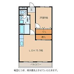 メゾンドファミーユ[2階]の間取り