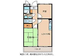 滋賀県近江八幡市安土町小中の賃貸マンションの間取り