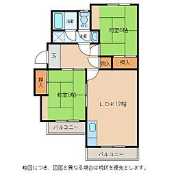 平和ペットマンション[1階]の間取り