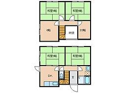 [一戸建] 滋賀県東近江市妹町 の賃貸【/】の間取り