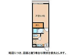 ドリームハイツ愛東[2階]の間取り