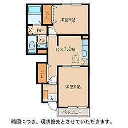 ポートリジェールI〜IV[1階]の間取り