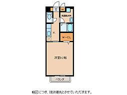 滋賀県東近江市五個荘清水鼻町の賃貸アパートの間取り