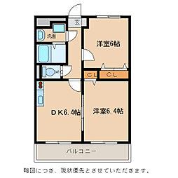 Chez-soi TATSUMI III番館[1階]の間取り