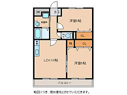 Chez-soi TATSUMI III番館[5階]の間取り