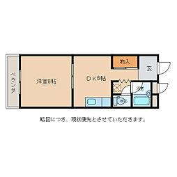 サントマンション[2階]の間取り