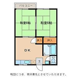 ハイツプチブル[2階]の間取り