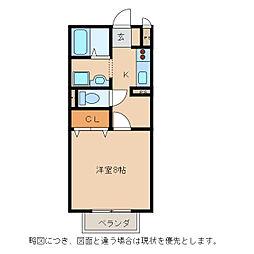 ボナール大澤[1階]の間取り